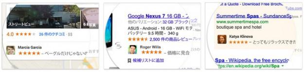 Google プロフィール広告表示例