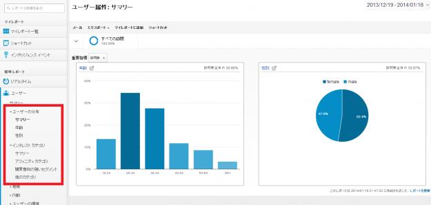 ユーザー属性  サマリー   Google Analytics